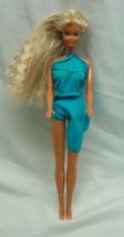 Vintage 1986 Barbie In Blue Dress Doll Toy 1980's - $19.80