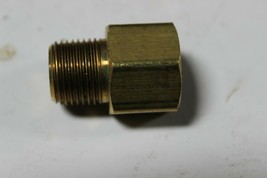 Parker 222P-6-6 Pipe Adapter 3/8 Female X 3/8 Male Brass New Pack of 5 image 1