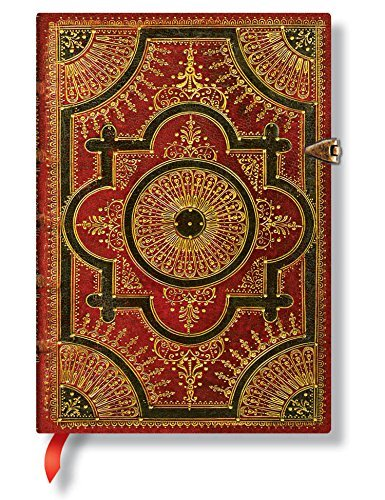 "Paperblanks ""Ventaglio Rosso"" Hardcover Sketch Journal, Blank/Unlined Paper (5"""