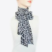 New KASPER Chic Animal Print Chiffon Scarf Neck Wrap Versatile Headband ... - €8,26 EUR