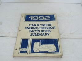 1992 Ford Car & Truck Repair Manual Engine & Emissions Facts Book and Su... - $14.50