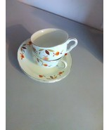 Halls Autumn Leaf Jewel Tea Cups and Saucers (2) - $11.91