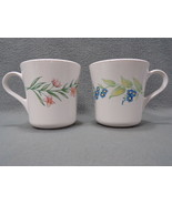 2 CORNING, CORELLE in the My Garden Pattern 10 oz. Smooth Side Mugs  - $16.35