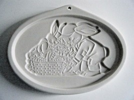 Longaberger Easter Cookie Mold Grandpa & Herbie 1995 With Box - $9.85