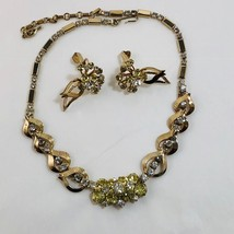 MONTE CARLO Rhinestone Necklace & Clip Earrings Set  Vintage 1961 Sarah Coventry - $35.97