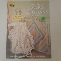 Mini-Motif Baby Afghans Leisure Arts Leaflet 2300 Five Sport Weight Designs - $7.68