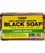 Taha 100% Natural African Black Soap with Lemongrass 5oz - $6.88