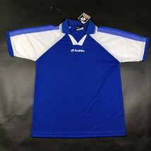 Vintage Lotto Mens M Blue White Jersey Shirt Soccer Football Canada Made... - $32.73