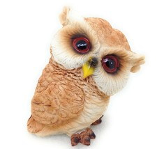 Pudgy Baby Owl Figurine 4 inch Garden Home Decor Gift Wildlife New GSC 5... - $8.68