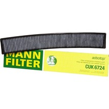 Cabin Filter Air CUK6724 Activated Charcoal BMW Model Pollen Spores Dust... - $32.62