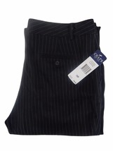Chaps Womens Dress Pants Size 10P Black with White Stripes - $39.59