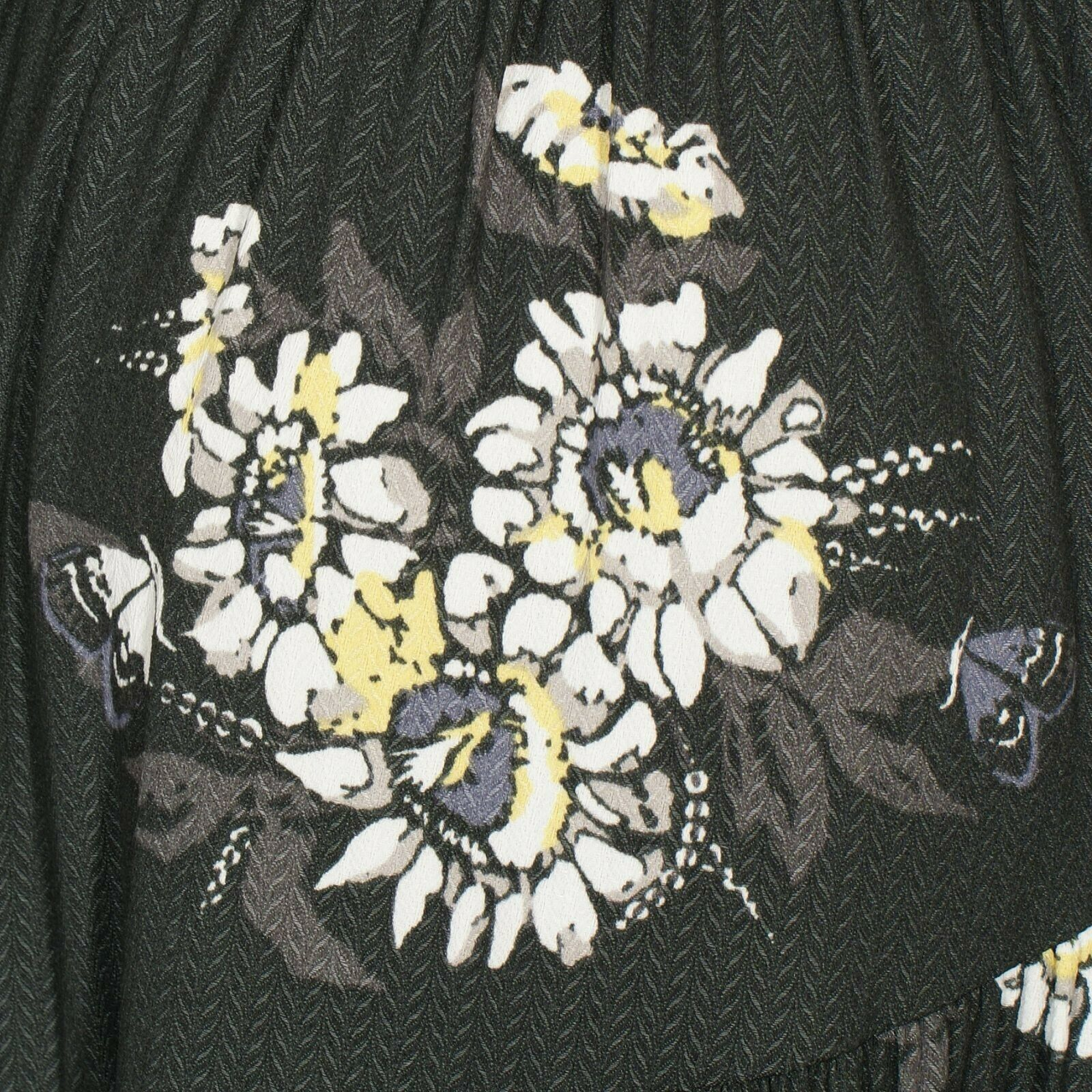 FREE PEOPLE Black All I Got Floral Tiered Flared Maxi Long Dress 2