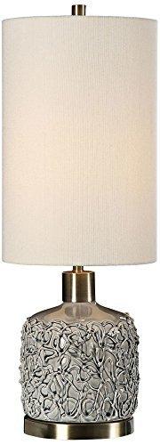 Uttermost Privola Gray Ceramic Buffet Table Lamp