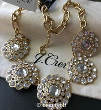 NWT J Crew Statement  necklace crystal & J Crew Bag valued at $49.50 - $37.99