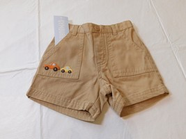 Gymboree Baby Boys Shorts Khaki with car & truck embroidered 6-12 Months... - $13.60