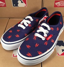 Vans KIDS New York Mets MLB Authentic Sneaker Limited Edition Shoes CHIL... - $40.00
