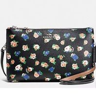NWT Coach Lyla Crossbody Tea Rose Floral Print Coated Canvas F57628 Black Bags  image 4
