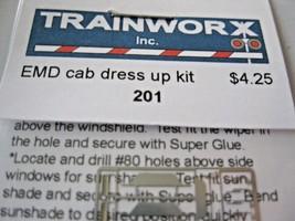 Trainworx Stock #201 EMD Cab Dress up Kit N-Scale image 2