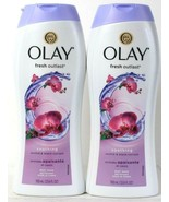 2 Bottles Olay Fresh Outlast 23.6 Oz Soothing Orchid & Black Current Bod... - $21.99