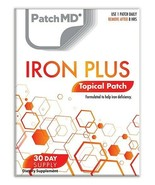 New Formula! PatchMD Iron Plus Patch 30-patches Patch-MD IRP - $14.99