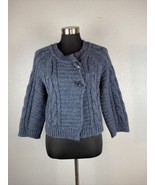 Caroll Womens Sweater 2 Gray Cardigan Wool Alpaca Blend - $98.99