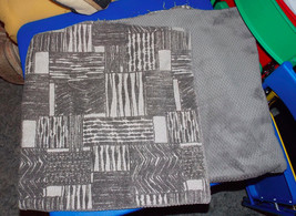 Pair of Gray Beige Abstract Decorative Print Throw Pillows  19 x 19 - $59.95