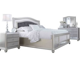 Ashley Coralayne 4PC Bedroom Set Queen Upholstered - Silver - $2,530.19