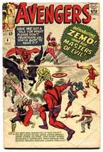 Avengers #6 comic book 1963-Marvel-First Zemo-Captain America-thor-iron Man - $230.38