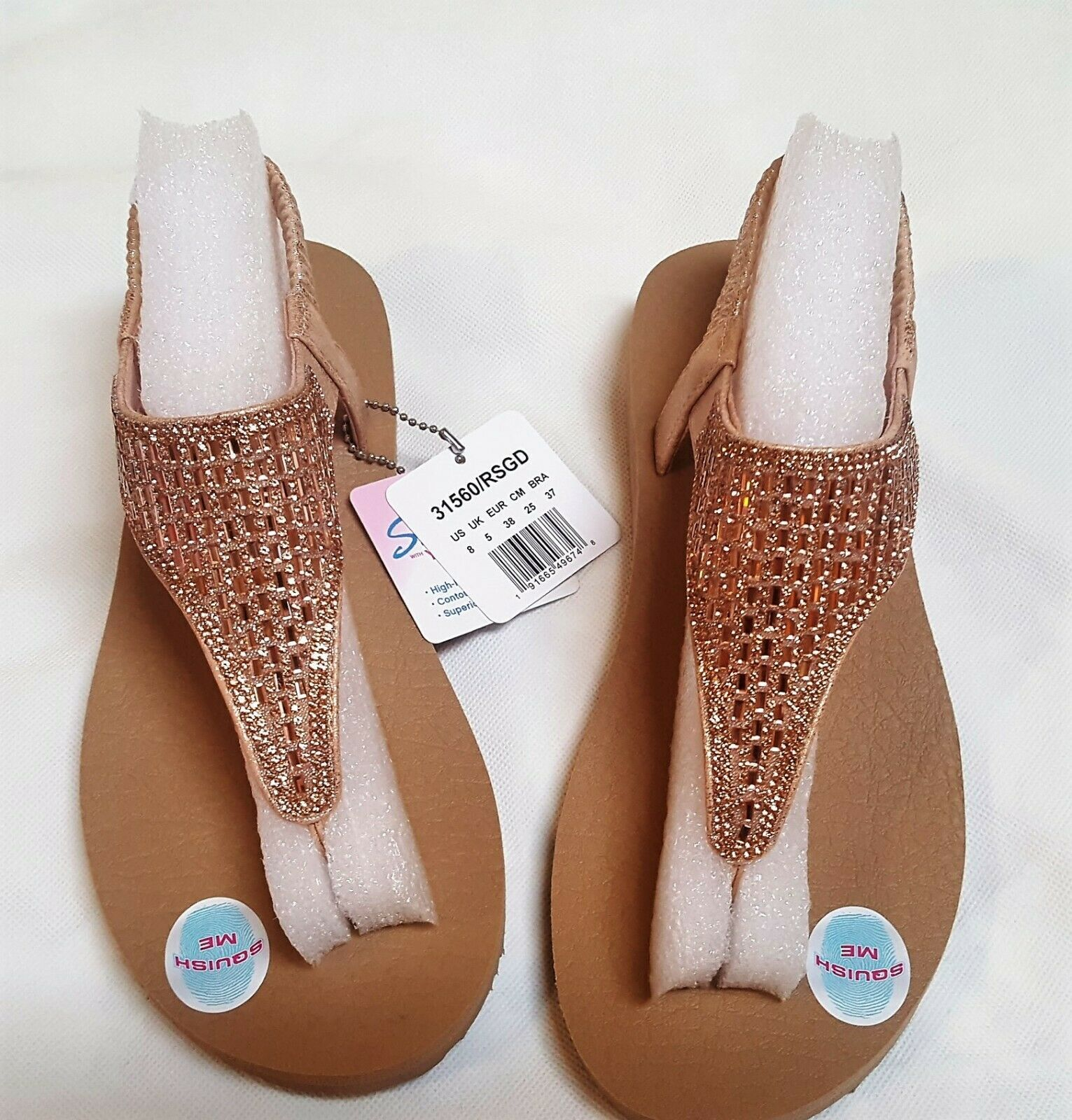 Womens Skechers 31560 Cali Meditation Rock Crown  Sandals Flip Flops size 8M image 3