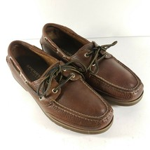 Sperry Top-Sider Mens Size 8.5 M Boat Shoes Leather Sailfish Coffee 0825... - $46.87