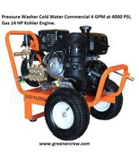 Pressure Washer Cold Water Commercial 4 GPM at 4000 PSI, 14 HP - $1,399.00
