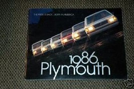 1986 Plymouth The Pride is back... Brochure - $1.75