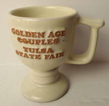 FRANKOMA Golden Age Couples Tulsa State Fair 30  Anniversary C13 Pedesta... - $8.86
