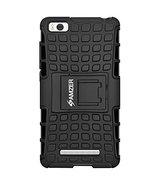 Amzer Hybrid Warrior Case - Black/ Black for Xiaomi Mi 4i - $9.85