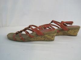 Aerosoles Orange/Tan Strappy Sandals Size 6.5 (HK-0221) - $12.75