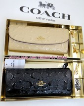 Coach F 23397 Boxed Signature Debossed Patent Soft Wallet With Charms - $89.00