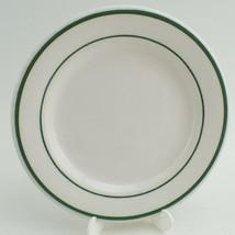 """1 Vtg Buffalo China Restaurant Ware White Green Stripe Dish Plate 6 1/4""""... - $13.83"""