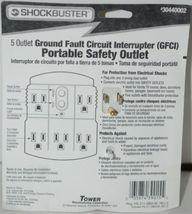ShockBuster 30440002 5 Outlet Ground Fault Circuit Interrupter Safety Outlet image 5