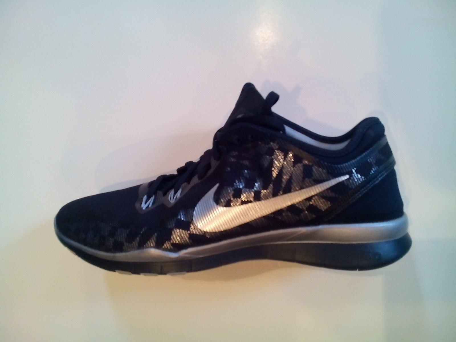 a47aa6bc7a8c NIKE Free 5.0 TR Fit5 MTLC Metallic Silver Women Training Shoe Sz 9.5 806277 -001