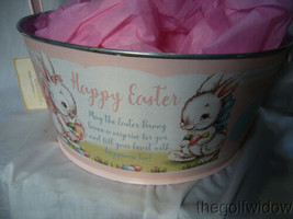 Bethany Lowe Designs Tin Pink Easter Bucket for Easter  image 2