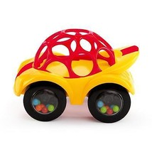 Rhino Toys Oball Rattle and Roll Car Toy Yellow... - $10.99