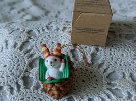 Avon Christmas Cutie Ornament Pine Cone Bunny - $14.54