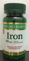 Nature's Bounty Iron 65 mg Tablets 100 Tablets Exp: 10/2022 - $7.43
