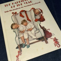Vintage Hallmark Christmas Book Norman Rockwell Happiest Time of the Year  - $9.49