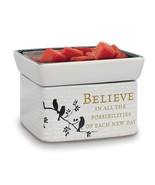 Believe in Tomorrow Electric 2 in 1 Jar Candle, Wax and Oil Warmer - $34.99