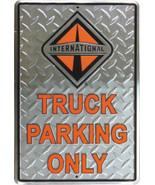 International Truck Parking Diamond Plate Aluminum Wall / Man-cave Sign ... - $19.15