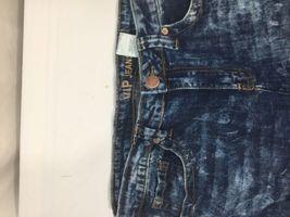Vip Jeans Acid Wash Skirt Above Knee Regular Fit   Blue Cotton Size 11/12 image 7