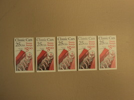 USPS Scott 2381-85 25c Classic Cars 5 Books 100 Stamps 20 Panes Mint Boo... - $65.91