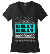 Dilly Dilly Ugly Merry Christmas Ladies V-Neck - $10.90+