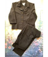 Jodi Michaels Gray Pinstripe 2 Piece Pant Suit Size 13 14 - $16.83